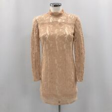 Reiss Lápiz Vestido señoras UK 10 Crema Rosa Encaje Fiesta Formal 020324