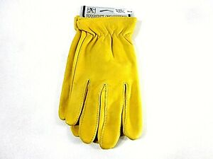 M+F Western Product's Men's Goatskin Work Gloves,Size Large,New