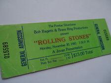 Rolling Stones 1981_Unused_Concert Ticket_Pontiac Silverdome