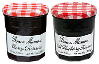 (2 Pack) Bonne Maman Cherry Jam +  Wild Blueberry Preserves, 13 Oz Each