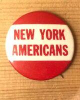 New York Americans NHL Vintage Pinback Pin Hockey Rare 1930s 1940s