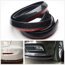 2.5M Carbon Fiber Car Front Bumper Lip Splitter Chin Spoiler Body Kit Protector
