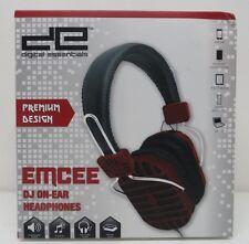 Digital Essentials EMCEE DJ On-Ear Headphones Black/Red