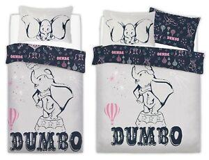 Dumbo Disney Duvet Cover Bedding Set UK Christmas Birthday Boys Girls Gift