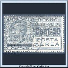 1927 Italia Regno Posta Aerea Soprastampato c. 50 su 60 grigio n. 8 Usato