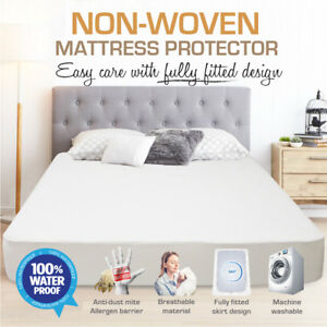 All Size Fully Fitted Non Woven Waterproof Mattress Protector Pillow Protection