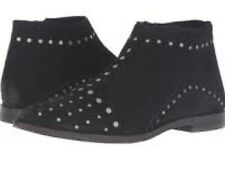 FREE PEOPLE Aquarian WOMENS Black Suede Studded  ANKLE BOOTS 39 / 8 NEW