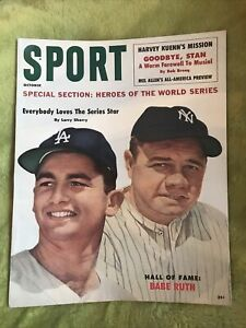 Sport Magazine Oct.1960, Babe Ruth, Stan Musial