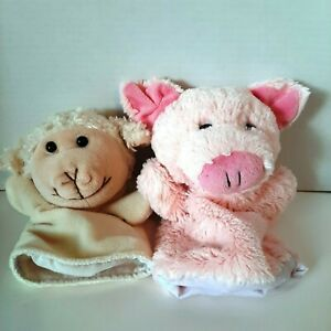 Pig and Sheep Hand Puppets