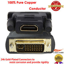 Connector Adapter HDTV PC LCD Monitor HDMI Female To DVI I Male Gender Converter