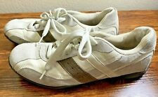 American Eagle Mens Size 10 1/2 White Gray Brown Suede Leather Shoes