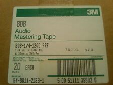 New Unopened 3M Audio Mastering Tape 1/4 X 1200 20 Tapes