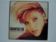 Samantha Fox - I Only Wanna Be With You Single Vinyl LP Record