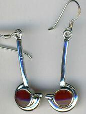 Hook Carnelian Round Fine Earrings