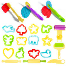 Dough Tools Play Set Modelling Doh Clay Craft Rolling Pins Cookie Cutters 20 pcs