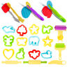 20 PC Children Kids Smart Dough Tools Kit Models and Molds Toy Play Doh Toys NEW