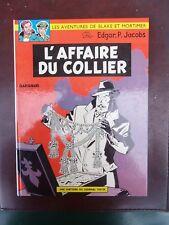 E.P. Jacobs - Blake et Mortimer - L'Affaire du collier  - Rééd. - 1968 - TTBE!!