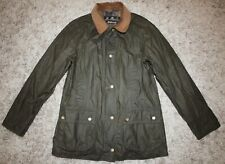 Barbour LIGHTWEIGHT BEADNELL Waxed Jacket in Olive - UK 10 [4030]