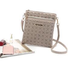 Women Soft Leather Hollow Out Handbag Shoulder Messenger Crossbody Message Bag