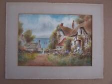 Country Cottage watercolour 1918   - Unframed