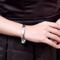 Bracelet Femme Jonc Rond en Plaqué Argent - Bijoux des Lys