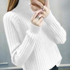 Women's Sweaters Turtleneck Pullover Loose Winter Warm Tops Knited Sweater Ske15