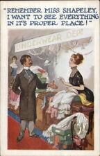 Beautiful Woman Works in Underwear Dept Store MISS SHAPELEY c1920 Postcard