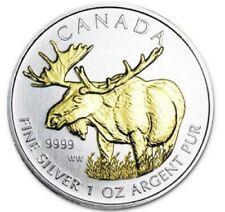 Silbermünzen mit Motiven aus Kanada