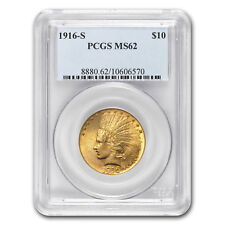1916-S $10 Indian Gold Eagle MS-62 PCGS