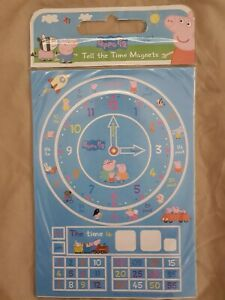 New Peppa Pig Tell the Time Magnet Set