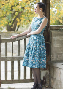 Emily and Fin Penny Swiss Chalet Retro Style Dress UK 12
