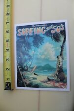 Bud Browne Surfing The 50's Hawaii Surf Film Video Vhs Surfing Movie Post Card