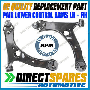 PAIR fits Toyota Avensis ACM21 03-10 Front Lower Control Arms Bushes LH+RH