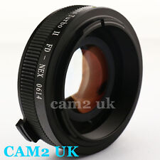 Zhongyi Focal Reducer Lens Turbo II Booster Canon FD to Sony E Adapter NEX A6000