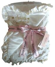 Juicy Couture Baby Girl Cream Ivory Blanket Gold Heart Accent New Tags $68