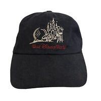 Walt Disney World Strapback Hat Cap Black Mickey Mouse Vintage 90s USA