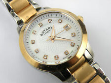 Ladies LB02837/41 Stainless Steel and Rose Gold Plated Rotary Watch