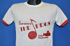vintage 80s DJ ENTERTAINERS THE PRO VIDEO PRODUCTIONS FILM CAMERA t-shirt S