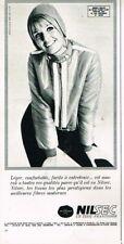 L- Publicité Advertising 1968 Pret à porter vetement de ski Nilsec Anorak