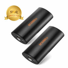 2 x 5000mAh Portable Power Bank Quick Charge Fast Charging iPhone 5V 2.1A Galaxy