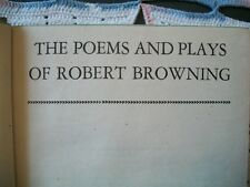The Poems and Plays of Robert Browning (1934 HC) Modern Library