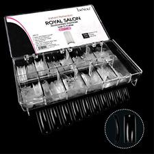 500 Pcs False Nail Tips Manicure Pedicure Products Supplies Clear Plastic Case