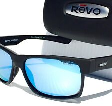 9149a877636 REVO CAMDEN Matte BLACK w POLARIZED Blue Water Lens Sunglass 5011 BL