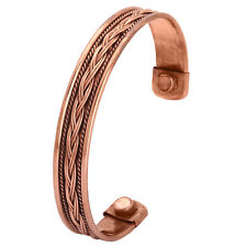 Premium Mens L-Bio Magnetic Copper Bangle-Bracelet Arthritis Pain Relief