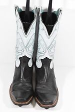 ARIAT LEGEND WOMENS 10B 15810 SKY BLUE BLACK LEATHER ROPERS COWBOY WESTERN BOOTS