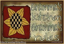 """Gramma's Kitchen, Gramma's Rules Sunflower Fridge Refrigerator Magnet 3.5""""X2.5"""""""