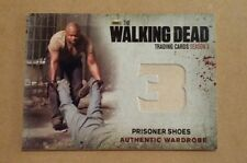 THE WALKING DEAD SEASON 3 PT 2 AUTH. WARDROBE CARD PRISONER SHOES #M14 VARIANT!!