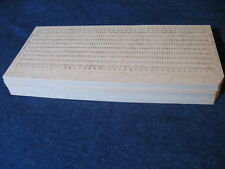 100pcs USSR Computer Mainframe Punch Card Perforated for IBM UNIVAC computers!