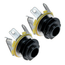 "2pcs Guitar Jack Socket 1/4"" Mono Input Jack Socket for Electric Bass Guitar/amp"