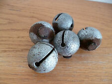 "5 Old Iron Sleigh Bells 1 1/4"" Diameter"